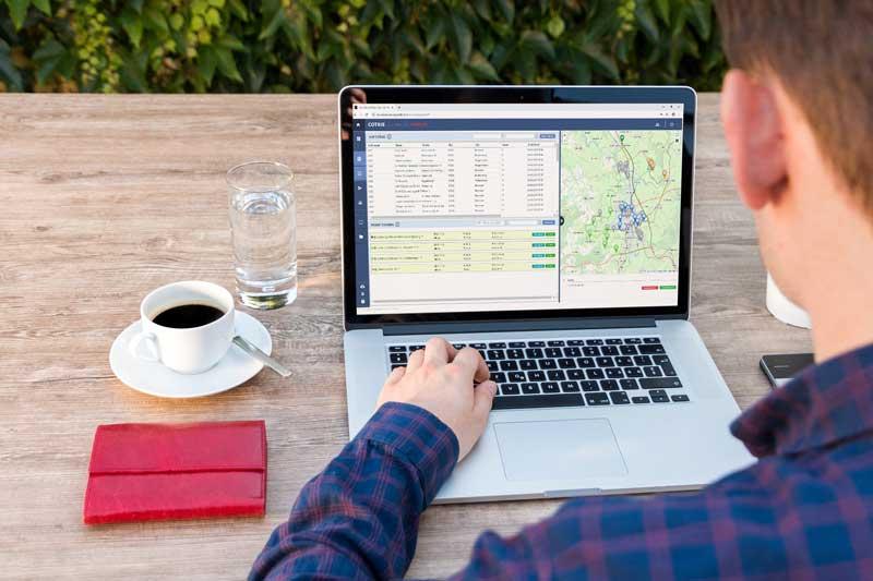 Laptop mit SAS Software